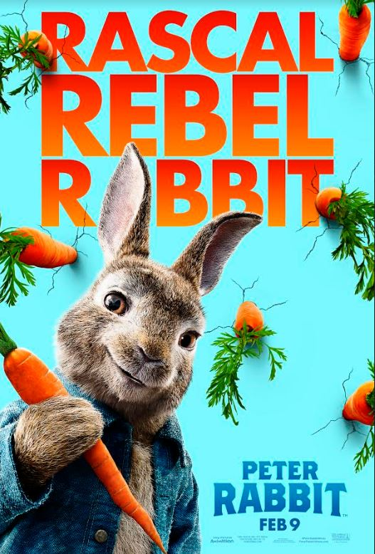 WIN Peter Rabbit Movie Plush Collectibles poster