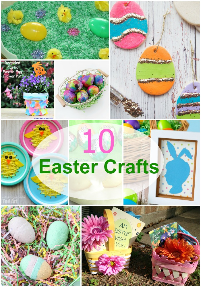 Try one of these 10 Easter crafts with your kids.