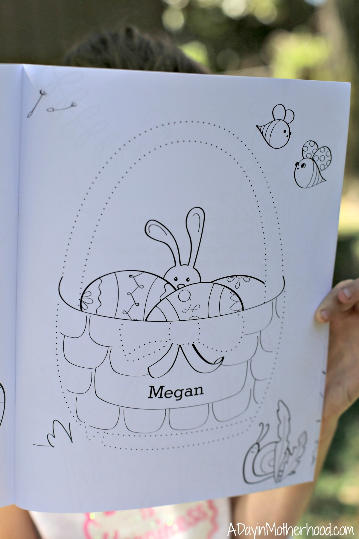 Personalize Easter with I See Me! coloring book