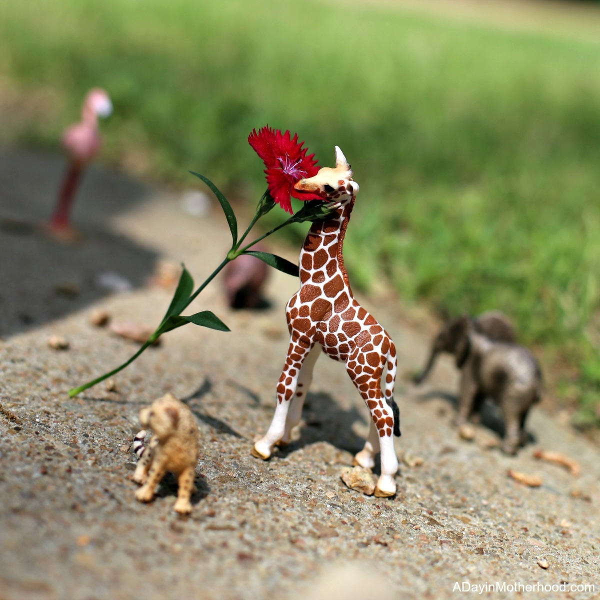 Let Their Imagination Soar with Wild Animals from Schleich Figurines like this giraffe