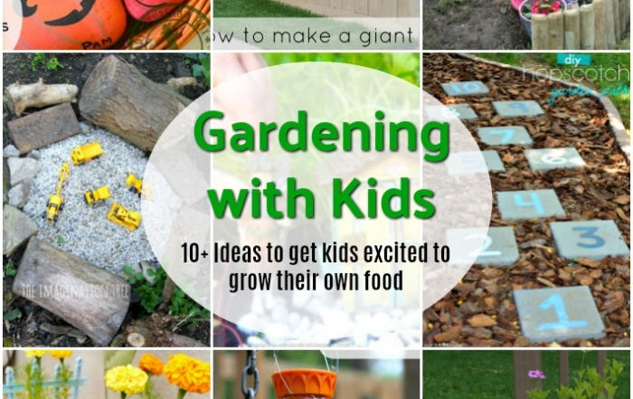 10+ Ideas for gardening with kids.
