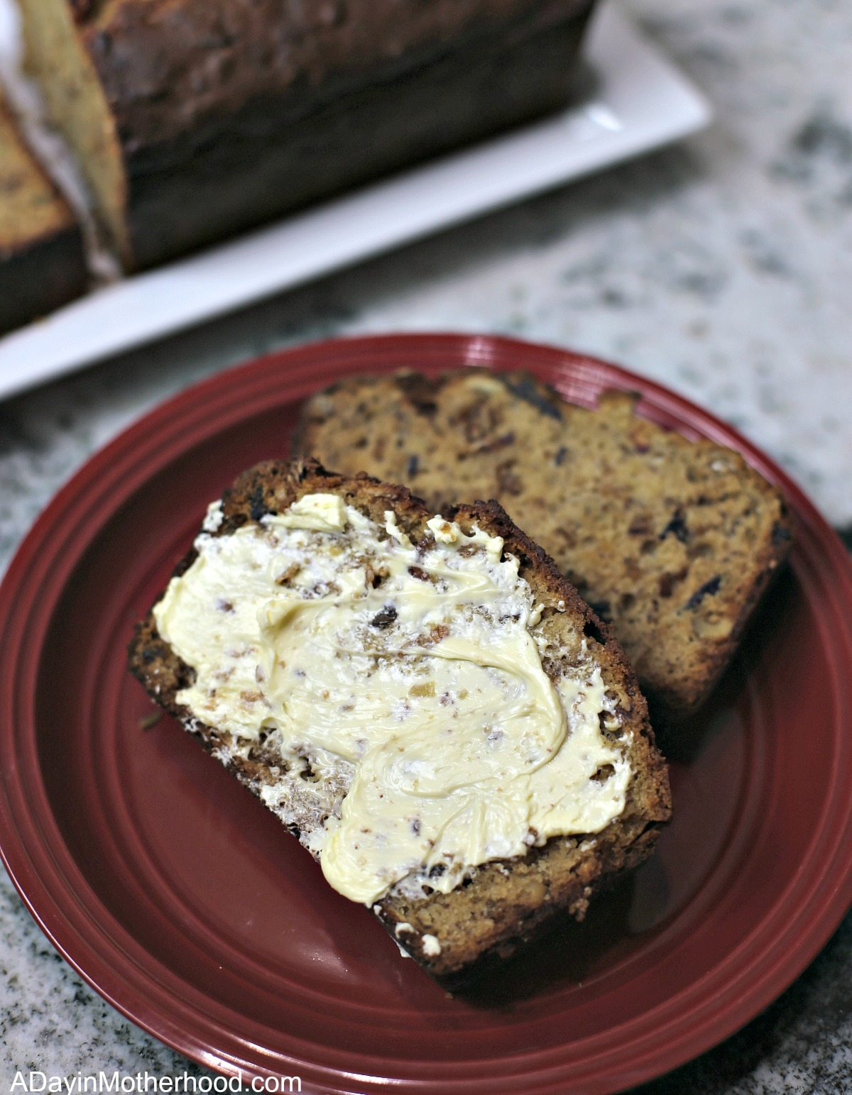 Granola Banana Bread Recipe and butter it up
