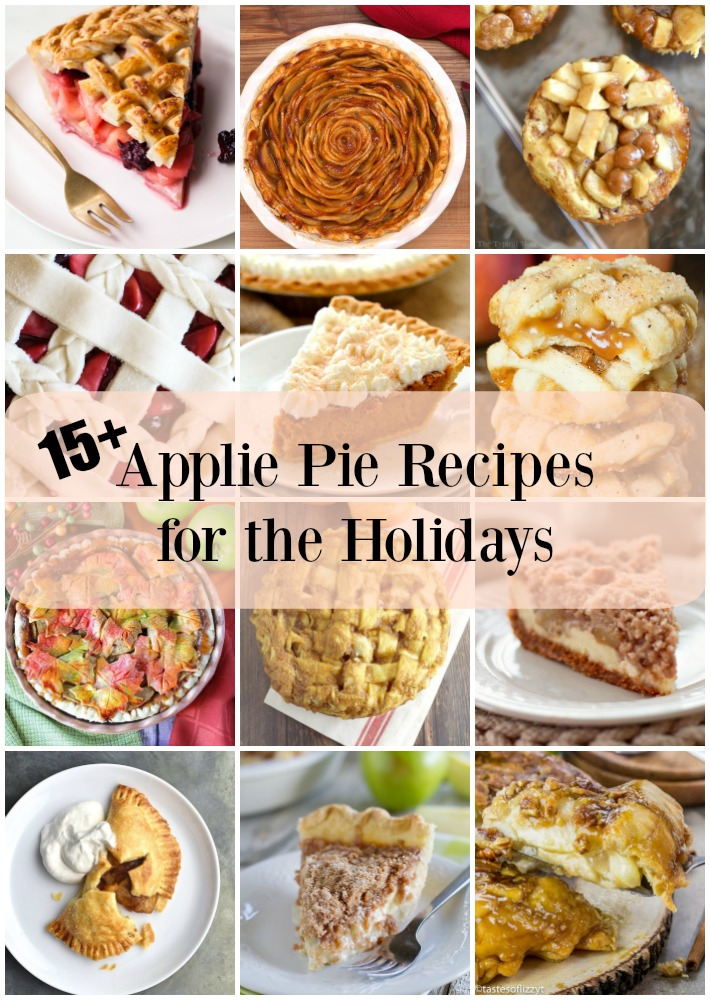 So many delicious apple pie recipes just waiting for your holiday dessert table.