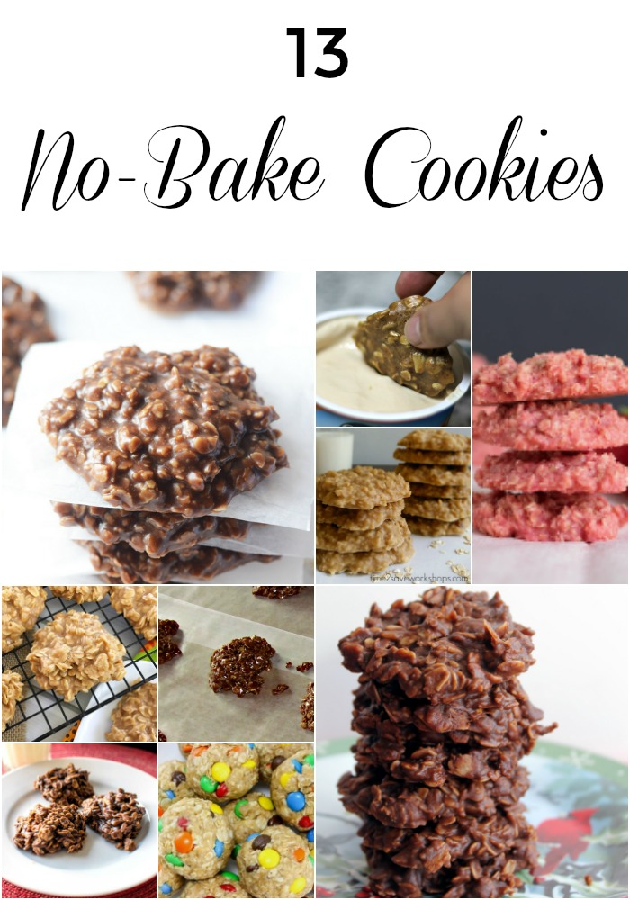 13 No-Bake Cookies for national cookie month