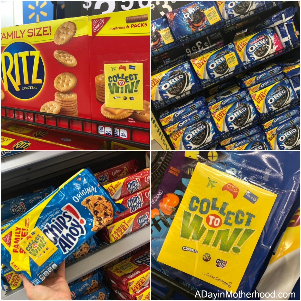 Play Collect to WIN AND Enter the Sweepstakes too: From OREO, RITZ and Chips Ahoy! on Walmart Shelves