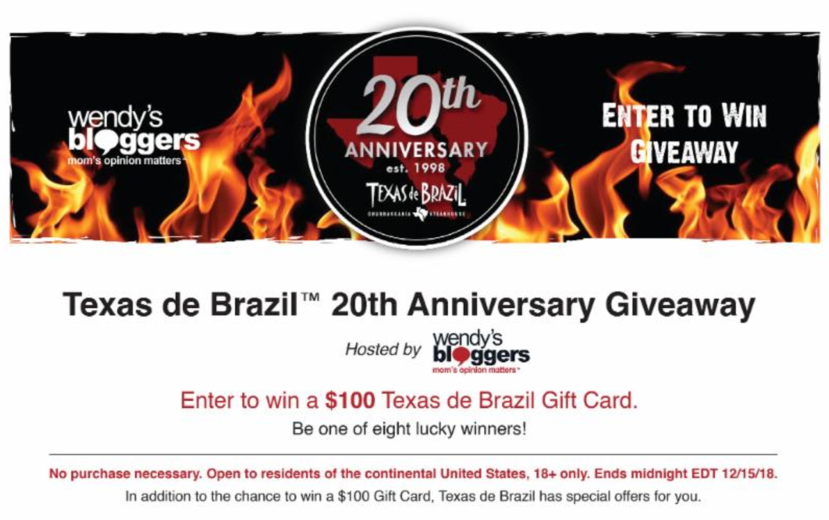 Relax & Celebrate with the Unique Flavors at Texas de Brazil + Win a $100 Gift Card now