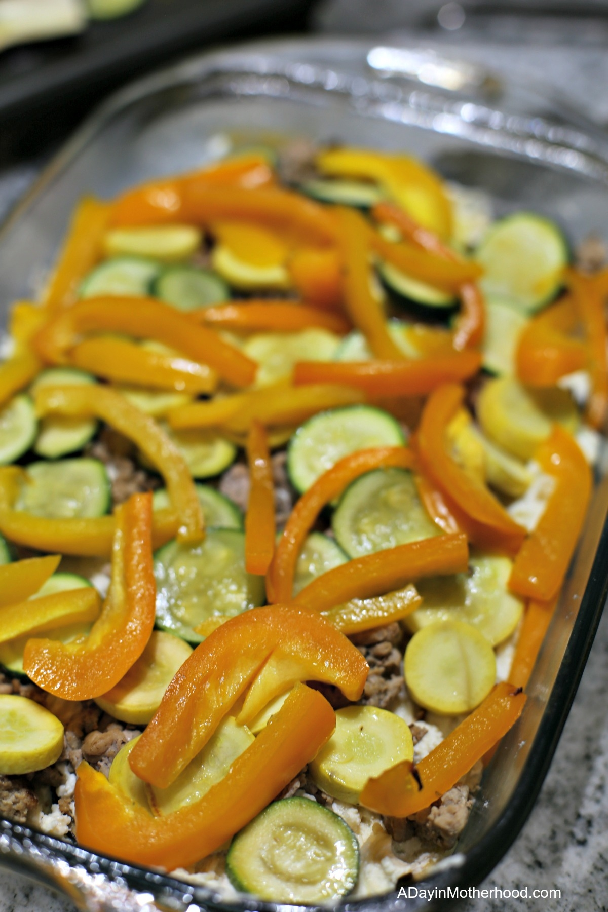 Turkey Vegetable Ricotta Bake Recipe with peppers