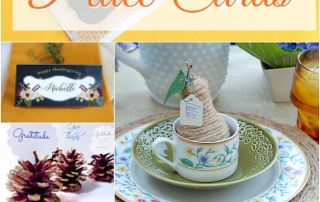 Add a touch of personalization to your Thanksgiving table with place cards.