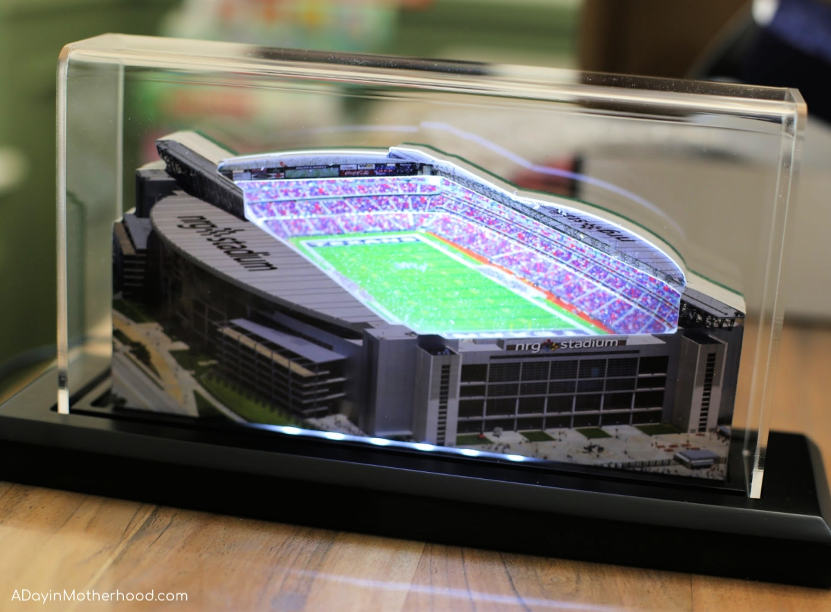 Sports Fans Get Excited over Home Fields Stadium Replicas and turn on the lights