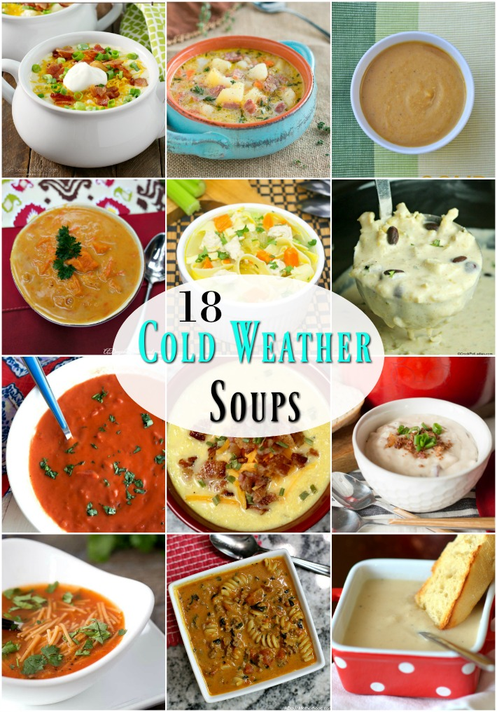 Cold weather soups to keep you warm inside.