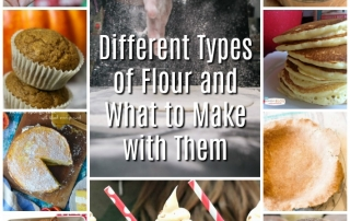 So many different flours! How do you use them, and what should you make? Read this flour guide and get some ideas.