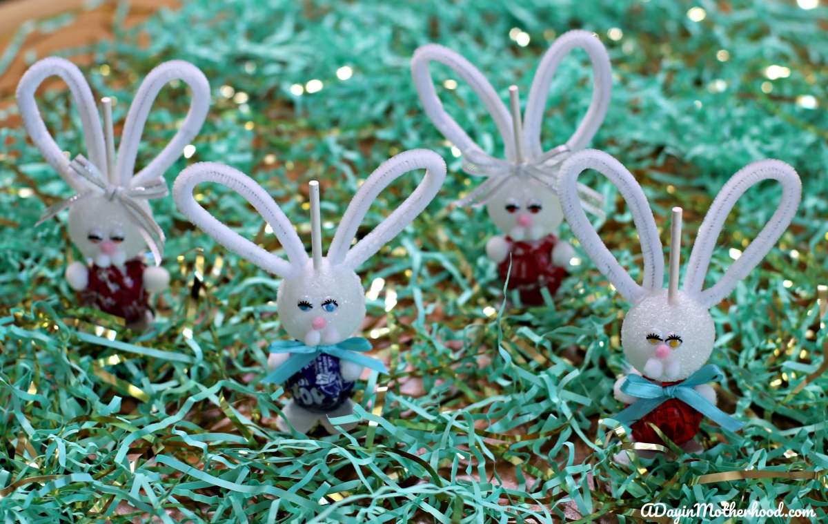How to Make a Bunny Lollipops for decor