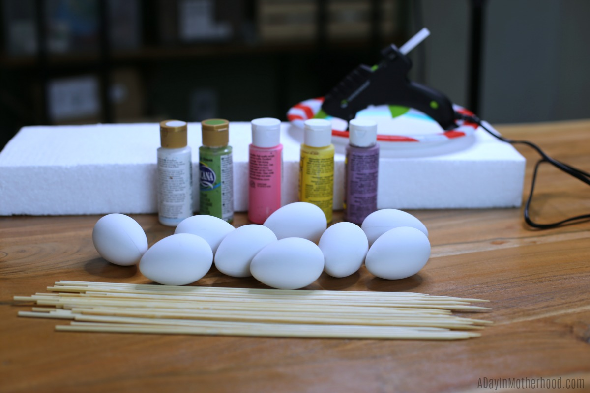 Fun Hand-Painted Easter Eggs materials