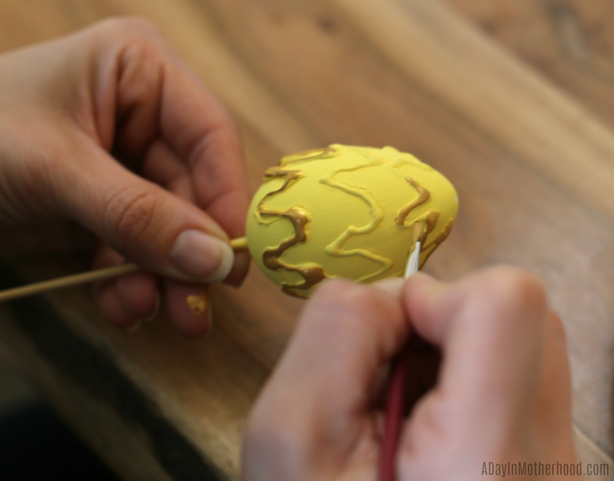 Fun Hand-Painted Easter Eggs painting details
