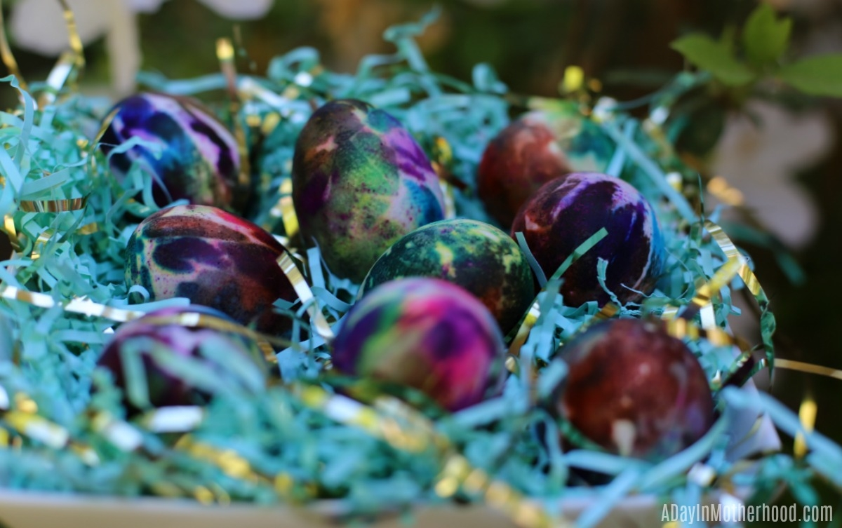 Tie Dye Easter Eggs for display