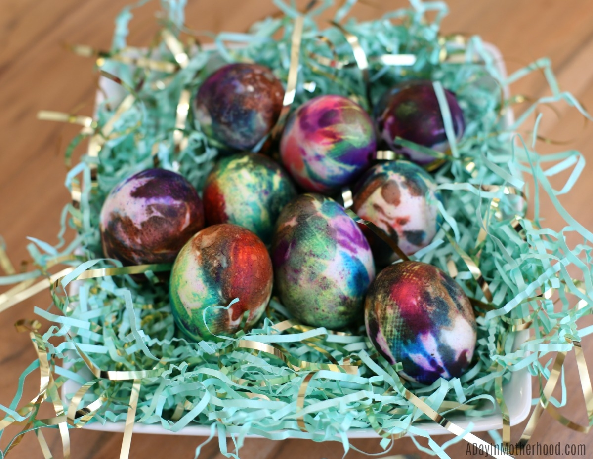 Tie Dye Easter Eggs for a table
