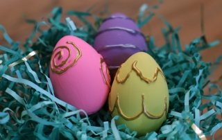 Fun Hand-Painted Easter Eggs for your table