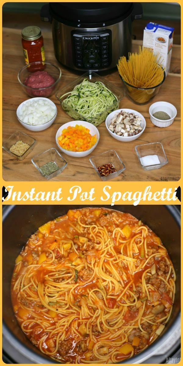 Instant Pot Spaghetti pinterest