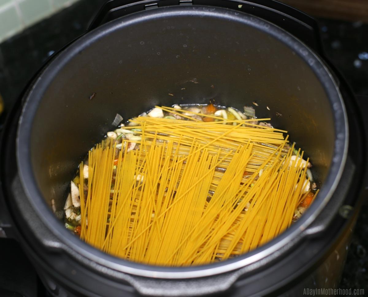 instant pot spaghetti pasta
