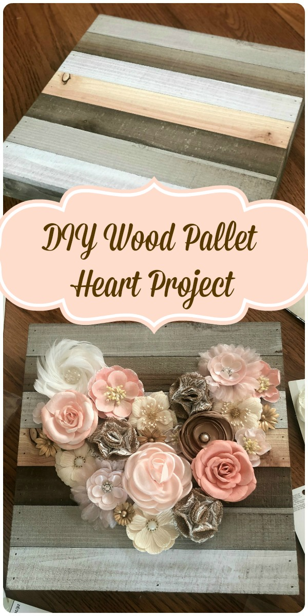 DIW Wood Pallet Heart Project pinterest