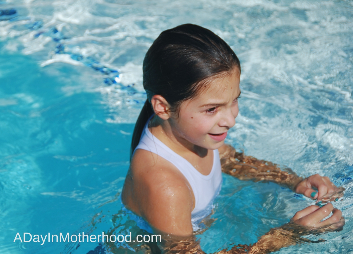 Children in a swimming pool releasing stress & anxiety