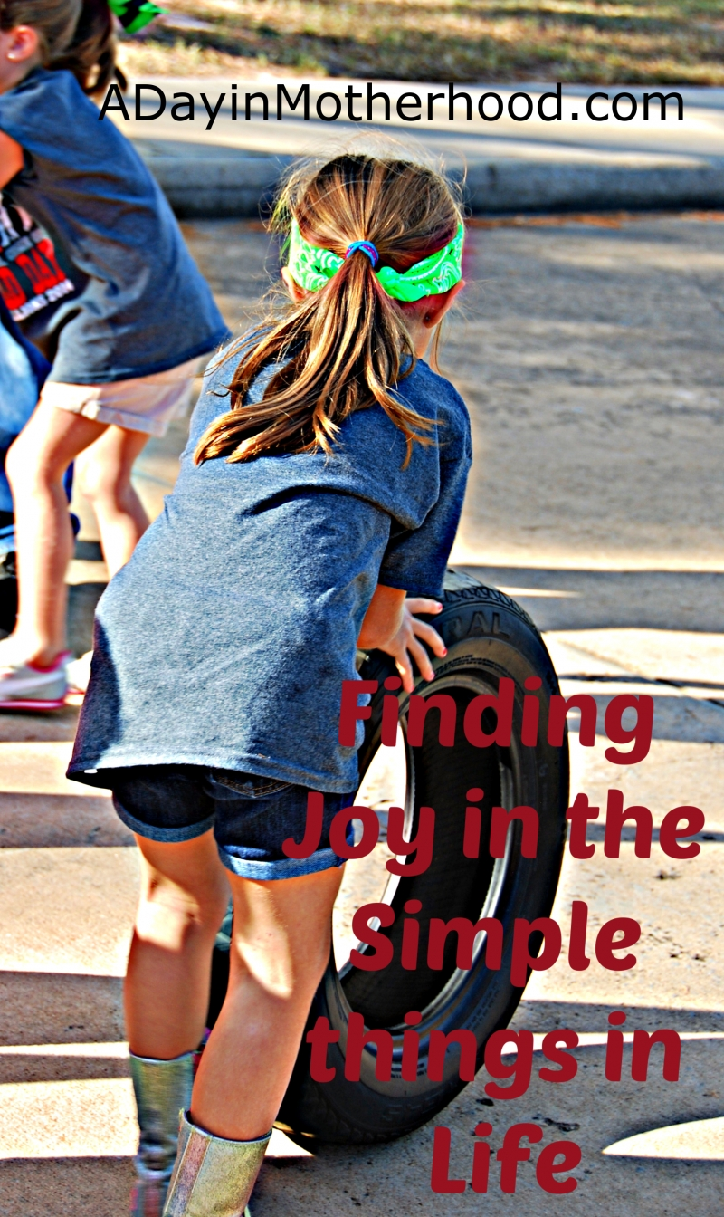 Finding joy in the simple things in life during childhood