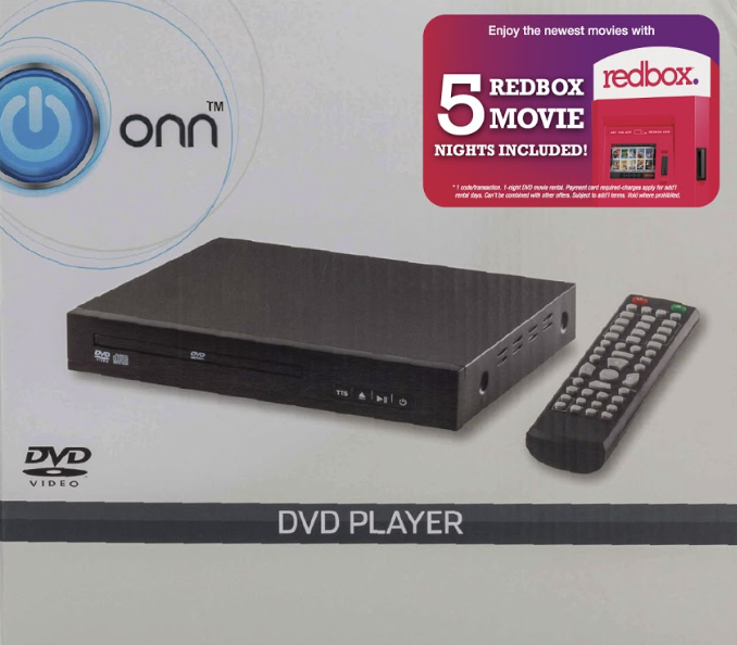 Get 5 FREE Movies at Walmart with a ONN DVD Player Purchase - image of DVD player