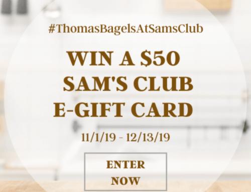 8 WIN $50 Sam's eGift Cards!