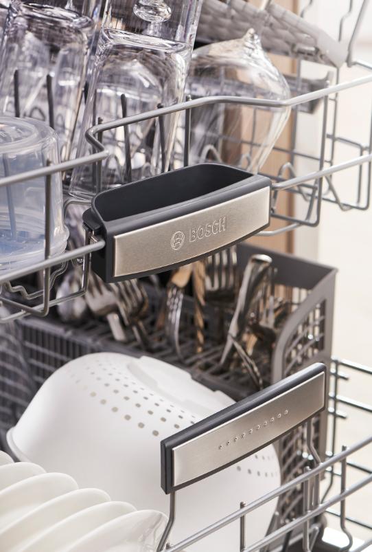 Bosch 800 Series Dishwasher Features - photo of inside of Bosch dishwasher on adayinnmotherhood.com