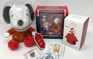 Snoopy Goes to MARS - photo of snoopy doll, ornaments and other promotional items on adayinmotherhood,com