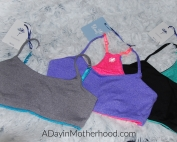 Bleuet-A Better Bra for Tweens and Teens-photo of 3 colorful bras on ADayinMotherhood.com