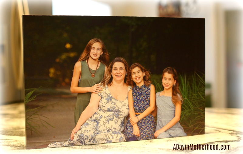 Capture Precious Moments in Time with the Canvas Factory-photo of finished product of canvas on ADayinMotherhood.com