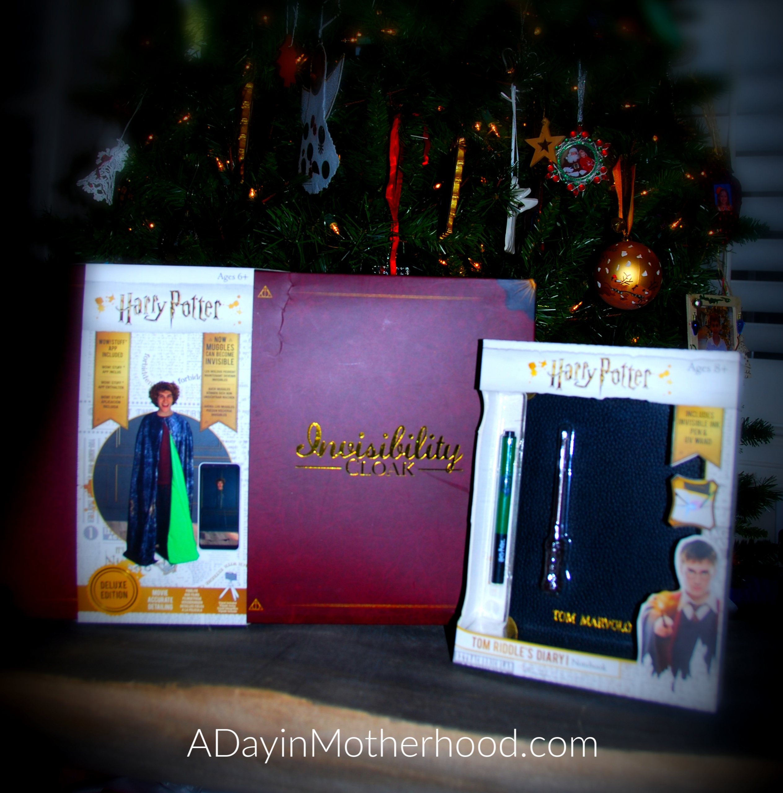 WOW! Stuff for The Wizarding World-photo of products by tree on ADayinMotherhood.com