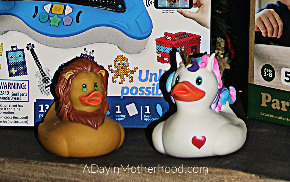 Best Toys for the New Year-photo of rubber ducks on ADayinMotherhood.com