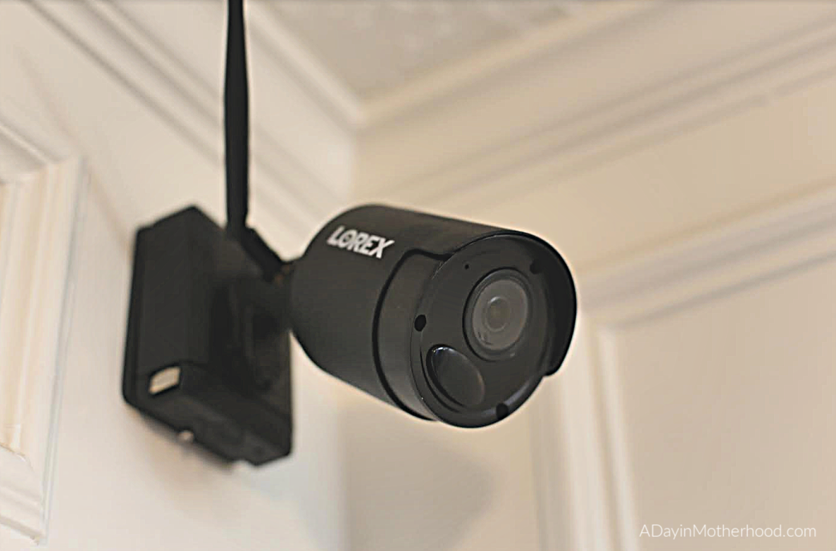 Lorex Security Cameras Up Your Confidence this Holiday Season - photo of lorex security camera inside house and mounted - adayinmotherhood.com
