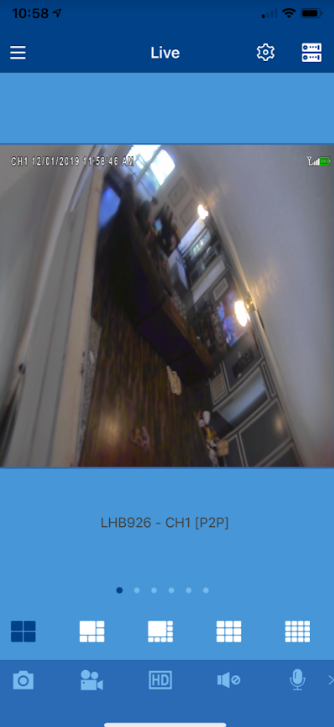 Lorex Security Cameras Up Your Confidence this Holiday Season - screenshot of Lorex cirrus app with living room showing on adayinmotherhood.com